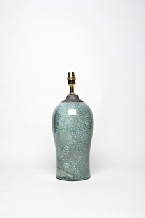 "(5) height 11.5"", Raku glaze, £160"